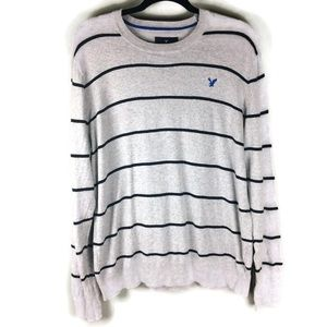 American Eagle Striped Classic Fit Sweater Large